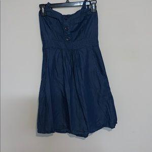 Speeckless Denim Halter Dress